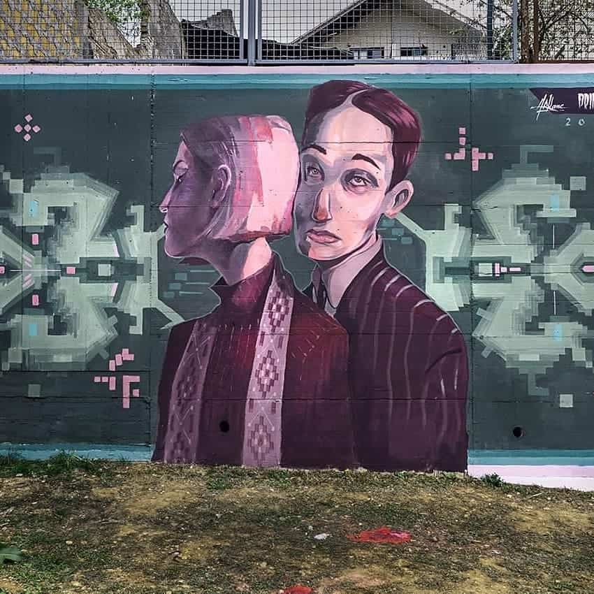 primal street art